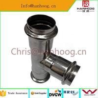 stainless steel tube prices DVGW W534 dtainless steel press fitting tool with low price
