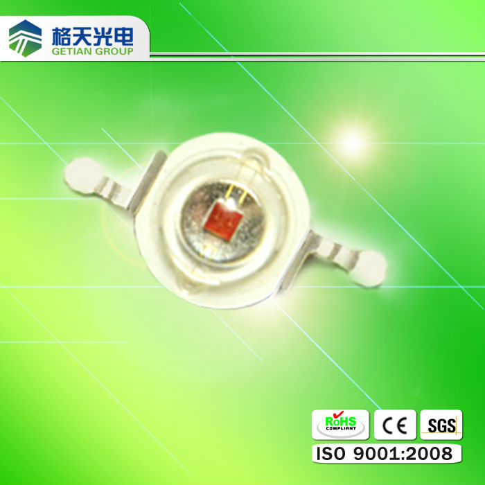 high lumen 1w 3w power red led diode 630nm for grow light