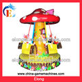 Amusement park equipment white rabbit mushroom kids theme park equipment, kids ride swinging chair