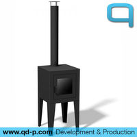 Cube 16 outdoor fireplace