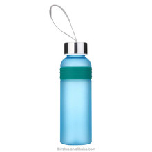 Portable Plastic Sport Water Bottle Creative Frosted Shatterproof Lemon Soda Space Cup Leak-proof360ML /460ML