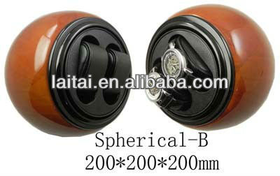 Wooden display single watch winder Spherical-B