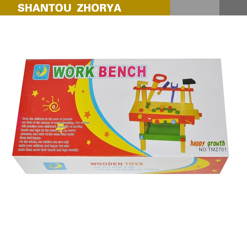 zhorya kids pretend tool kit set marking wood work bench wooden toy
