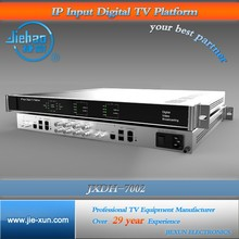 DVB over IP headend 12 in 1 Edge IP QAM Modulator with Mux and Scrambling