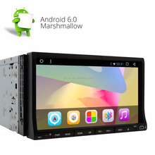 Universal 7'' Android 6.0 Double Din Car Stereo DVD CD Player Dual camera input Built-in GPS Navi AM/FM Radio Audio SWC BT WiFi
