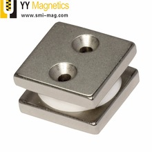 N35 Permanent Neodymium square ndfeb block magnet with hole