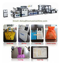 High quality ultrasonics nonwoven fabric handle bag making and sealing machine price