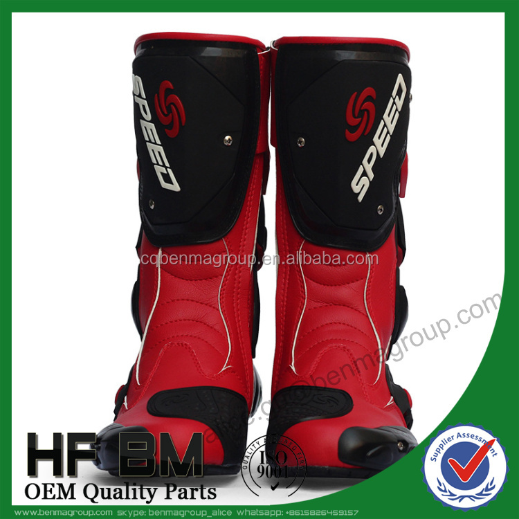 Motorcycle racing boots racing bike boots probiker boots with good quality Microfiber cloth