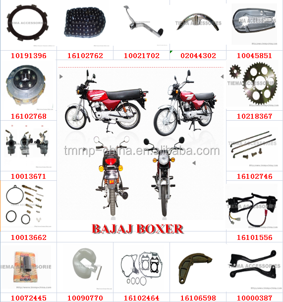HIGH QUALITY TMMP BAJAJ BOXER motorcycle parts China suppliers