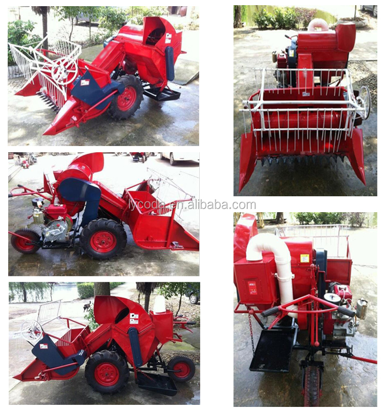 Combine rice crop cutting machine grain crop cutting and wheat harvesting machine
