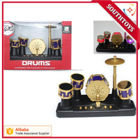 Mini Finger Touch Drums Set LED light Jazz Percussion Desktop Musical Toy Gift