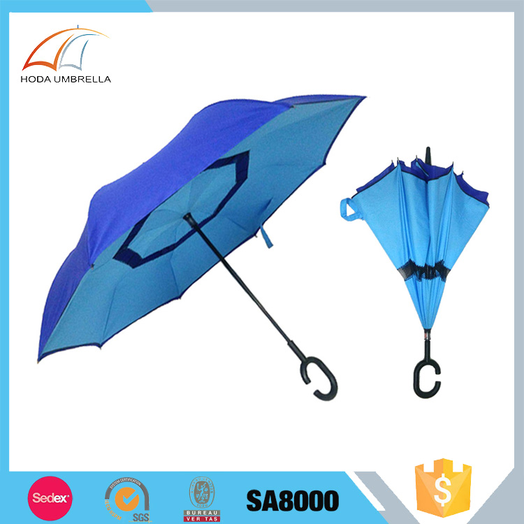 Wholesale products custom logo innovative reverse umbrella gift for car umbrella