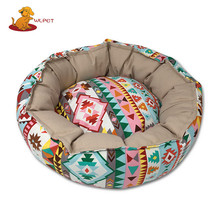 Most Popular Bright-Coloured Cheap Happy Pet Warm Round Dog Bed