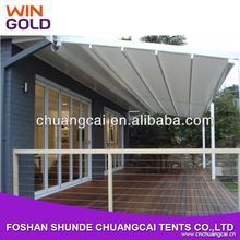 News motorized sky dome awning with strong aluminum structures