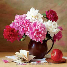 Flower vase 3d lenticular picture for table decoration