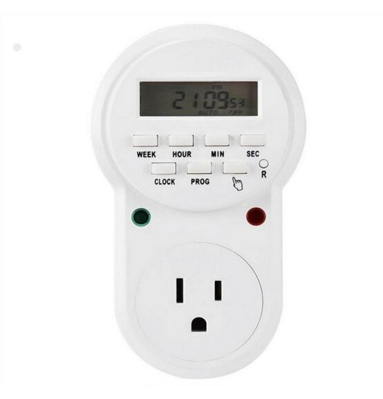 ETU-63 Digital Programmable <strong>Timer</strong> Socket Plug Wall Home Plug-in Switch Energy-saving for Home Lights, and all Househol