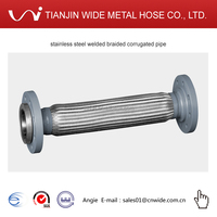 stainless steel welded braided corrugated pipe