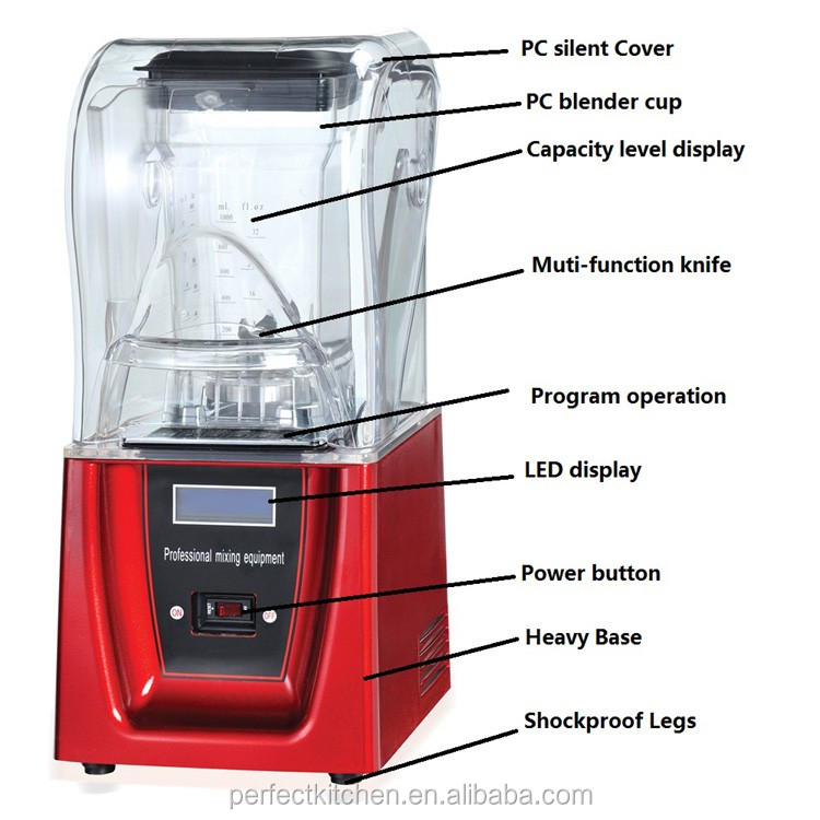 Industrial Size Blenders ~ Commercial blender with sound cover industrial
