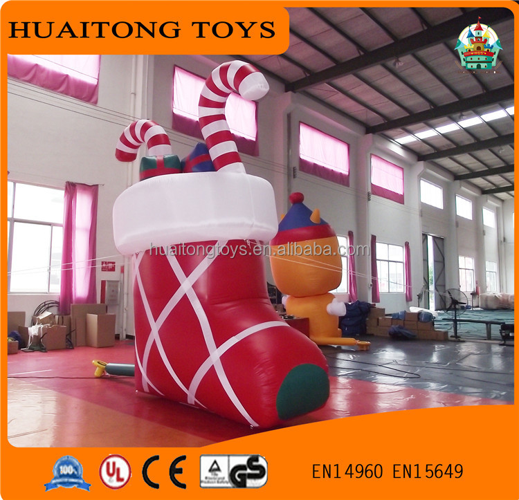 2016 Customized High Quality Christmas Shoes Inflatable Christmas Products For Sale