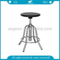 AG-NS002 height Adjustable 201 Stainless Steel stainless steel lab stool
