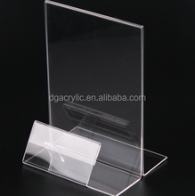 A4 clear acrylic sign holder paper insert display stand for menu holder
