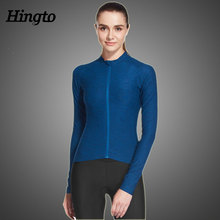 Factory hot sales custom women long sleeve mounton bicycle/ bike cycling jersey of China