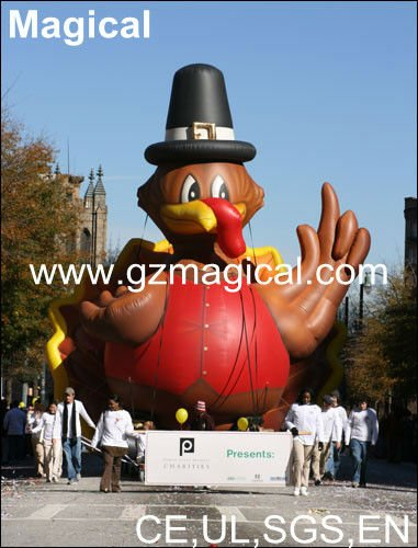 Inflatable Thanksgiving turkey/Pranksgiving model