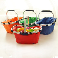 picnic basket folding basket insulated cooler bags