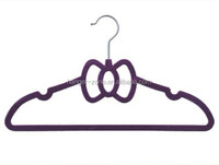 Velvet flocking coat hanger