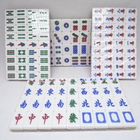 promotion mini colorful crystal traveling gift mahjong sets