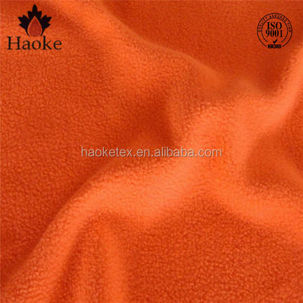100% polyester plush fleece fabric toys making / hi vis color fleece fabric