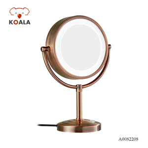 Table Compact Antique Glass Magnifier Vanity Light Framed Led Makeup Mirror
