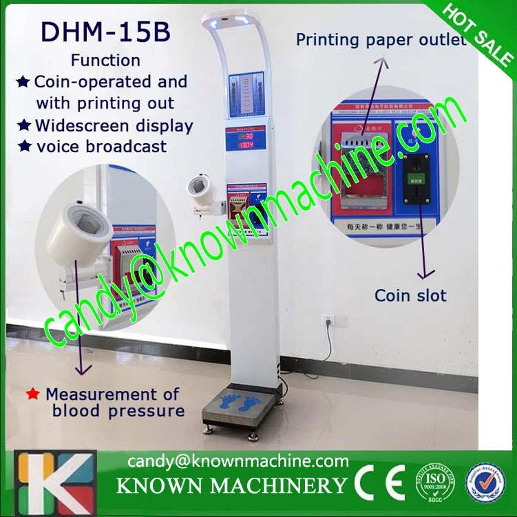 Professional bmi blood pressure height weight machine with bmi weight measuring machine