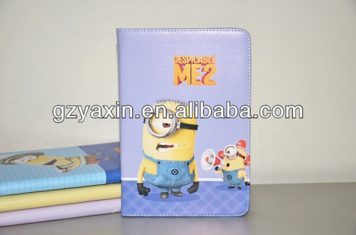 Minion despicable me 2 case for ipad mini,new products 3D case minion despicable me silicon case for ipad mini