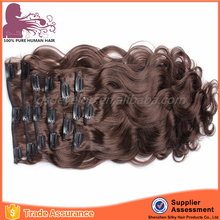 High quality wholesale factory price custom clip in hair extensions for white women