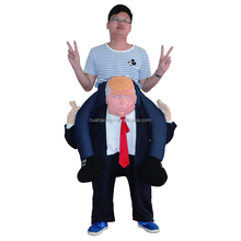 New Design Halloween Carry Me Donald Trump Costume Ride On Mascot Costume for National day