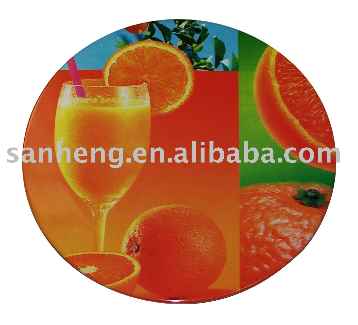 8 inch round table mat