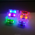 Factory colorful RoHS CE led glitter happy wristband