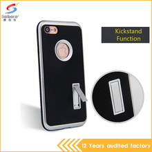 2017 new arrivals Hybird Hard Plastic TPU Silicone rubber carbon fibre case for iPhone 7