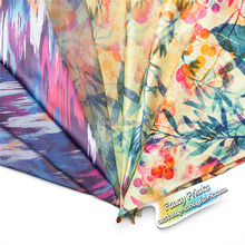 Eco-friendly reclaimed material digital print silk chiffon