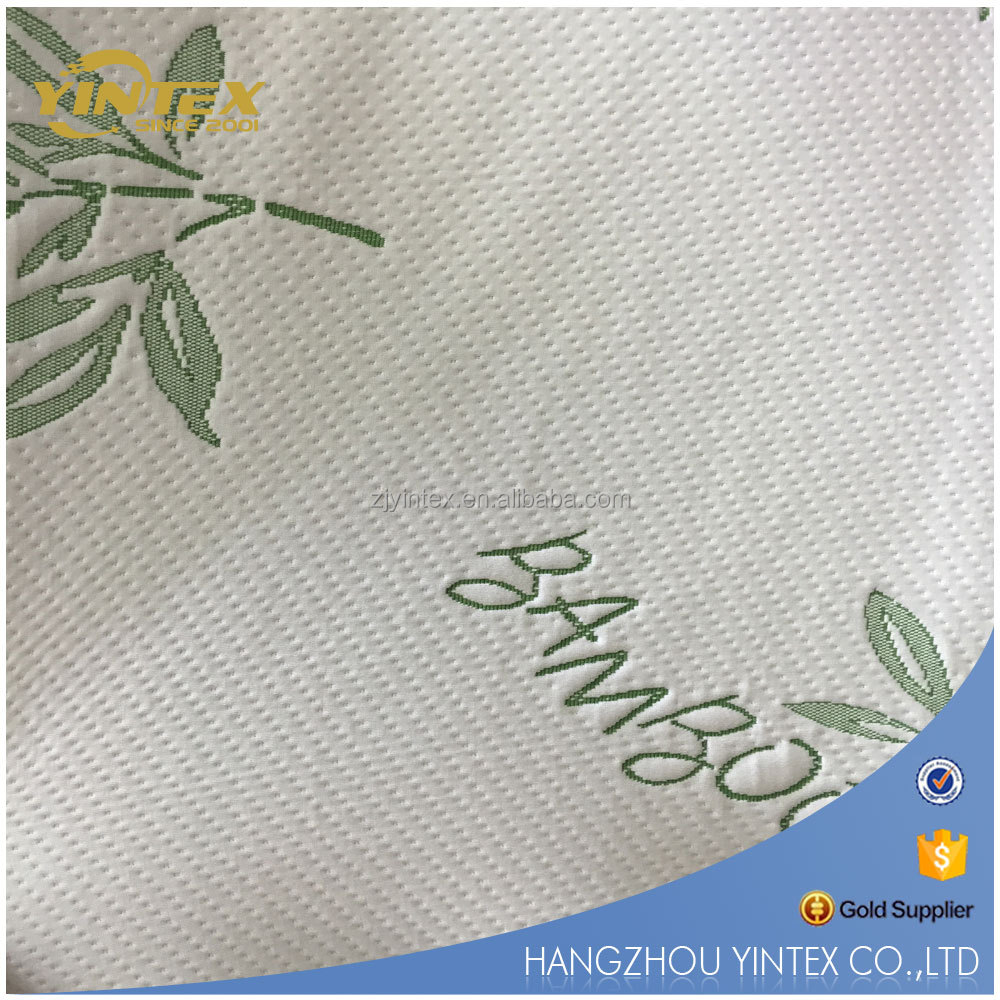 double jacquard knitted polyester mattress ticking fabric for latex mattress and foam mattress New deisgn