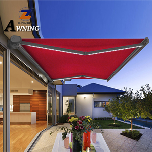 2018 hot selling full cassette electrical retractable canopy awning with remote control