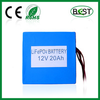 LiFePO4 battery pack 12V 20Ah for backup