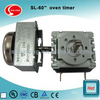 60 minutes gas oven parts and electronic timer switch for mini oven