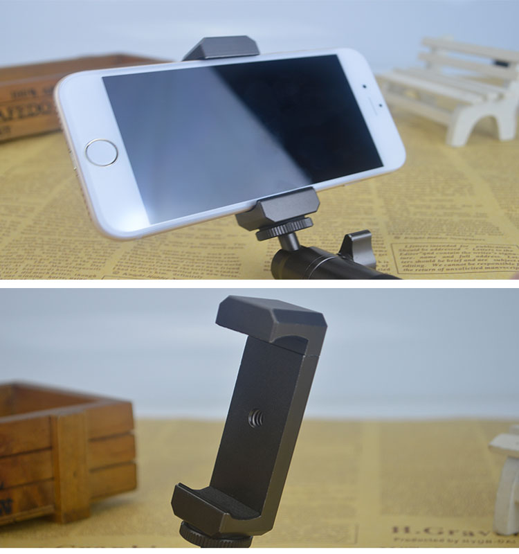 China Suppliers Metal Cell Phone Tripod Flexible Stand Holder Clip Mount for Samsung iPhone 6 6s 7 8 plus Android iOs Phone