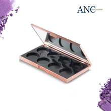 ANC Wholesale Custom Rose Gold Naked Empty Private Label Makeup Eyeshadow Palette Packaging