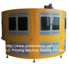 Glass Bottle 4 Color CNC Automatic Screen Printing Machine