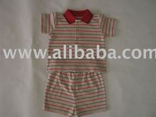 Short Sleeve Polo Tee shirt with Pant Set