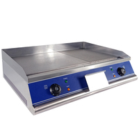 High quality equipment household electric griddle flat burger commercial