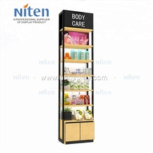 With Led lighting luxury stands display for cosmetics makeup products <strong>shelves</strong>